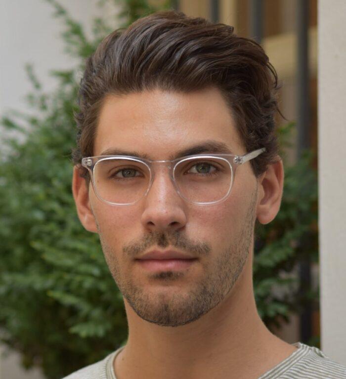 прозорі чоловічі окуляри