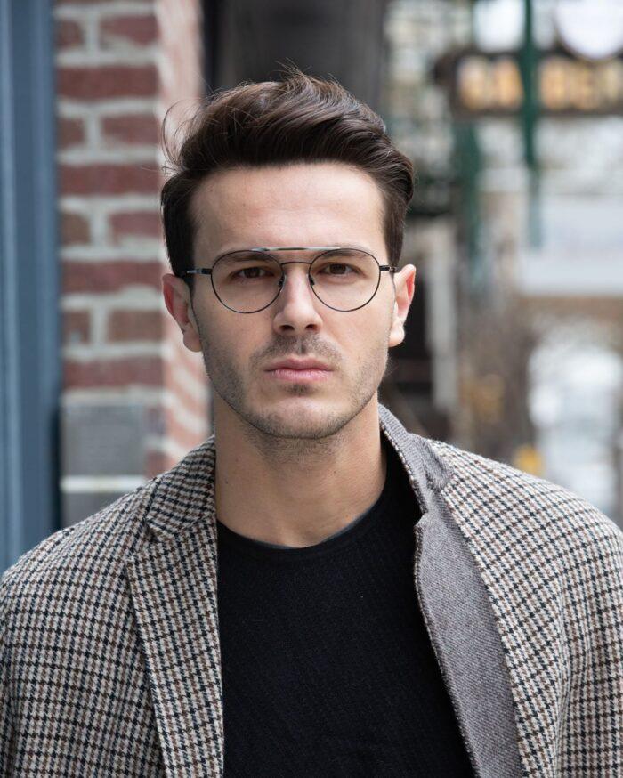 чоловічі титанові окуляри